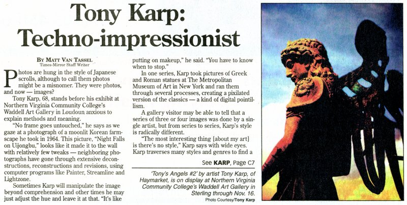 - An article from the Loudoun Times-Mirror - by Tony Karp - Techno-Impressionist Museum - Techno-Impressionism
